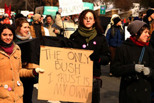 Bush Inauguration Protest