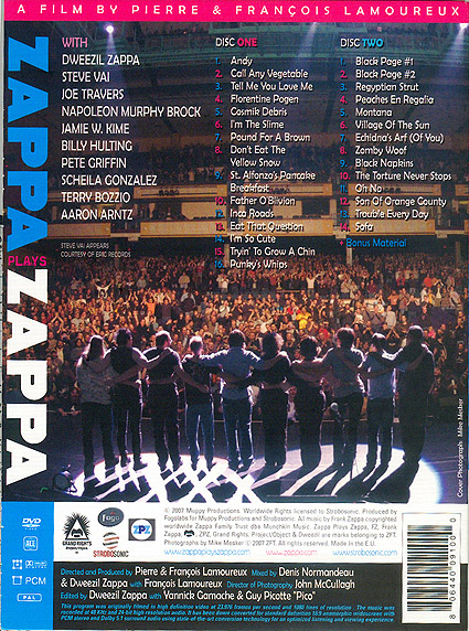 zappa plays zappa program photos 